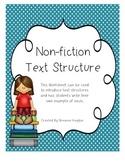 Non-Fiction Text Structure