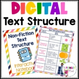 Non-Fiction Text Structure Digital Interactive Notebook