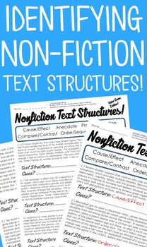 Identifying Non Fiction Text Structures Practice Pack