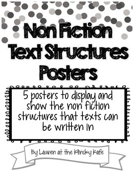 Non Fiction Text Structure Posters
