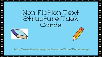 Non-Fiction Text Structure RI4.5