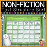 NonFiction Text Structure Sort Distance Learning