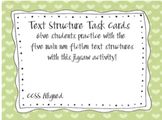 Non Fiction Text Structure Task Cards
