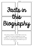Non-Fiction Texts: Biography Summary Organizer