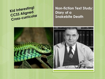 Non-Fiction Texts Study - Death Diary of a Snakebite