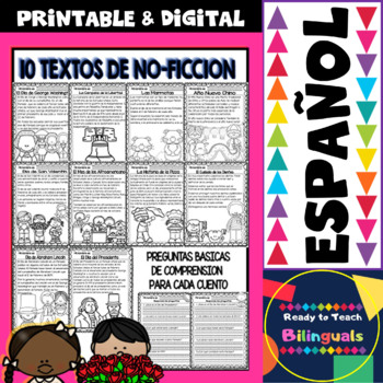 Non-Fiction Texts in Spanish - February Themes - Reading Comprehension Questions