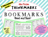 Non-Fiction Thinkmarks Reading Strategies Bookmarks  for Thinking about Reading