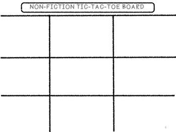 Nonfiction Tic-Tac-Toe QR Codes!