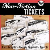 Non-Fiction Reading Response Exit & Project Tickets