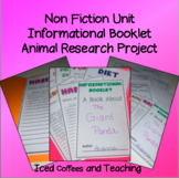 Non Fiction Unit Project - Animal Research