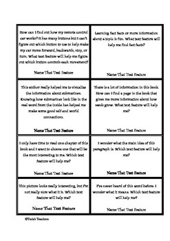 """Non Fiction """"What Feature Am I?"""" Game Cards"""