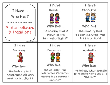 Non-Fiction Winter Holidays Speech & Language Packet