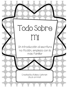 Non-Fiction Writing: All About Me Book - Spanish