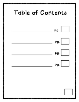 Non Fiction Writing Book Template