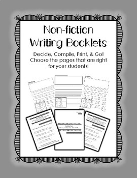 Non-Fiction Writing Booklets
