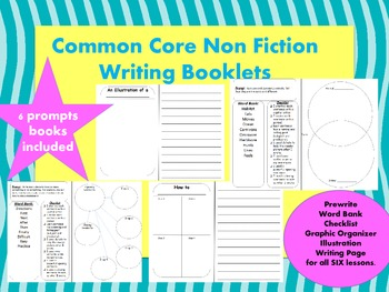 Non Fiction Writing Books- Prewrite, word bank, checklists