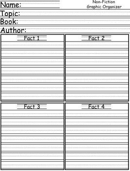 Non-Fiction Writing Graphic Organizer