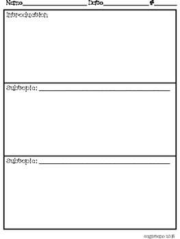 Non-Fiction Writing Graphic Organizer  Double Page