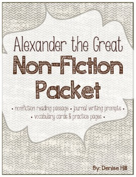 Non-Fiction Writing Packet: Alexander the Great
