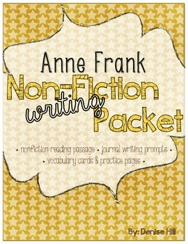 Non Fiction Writing Packet: Anne Frank