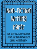 Non-Fiction Writing Paper Templates