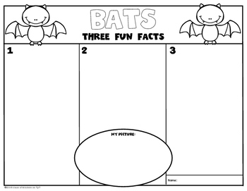 Non Fiction Writing Templates: Three Fun Facts! for Kindergarten and First Grade