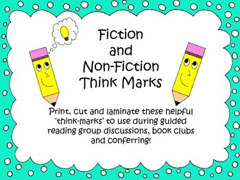 Non-Fiction and Fiction Think-Marks