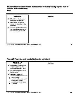 Non-Fiction for Intermediate - Literacy Response Journal