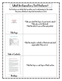 Non-Fiction/Expository Text Features Information Packet & Practice