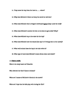 Non Ho Paura Quiz