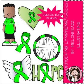 Non Hodgkins Lymphoma Awareness clip art - Mini - Melonheadz Clipart