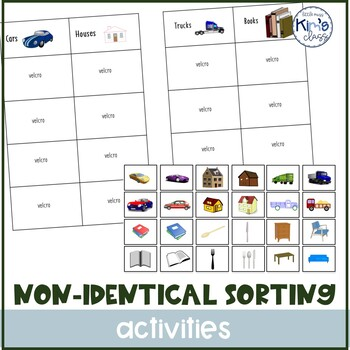 Non- Identical Category Sorting Task Box or Independent Work Activity