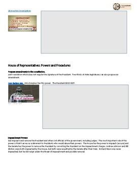 Non Legislative Powers of Congress - See Congress In Action