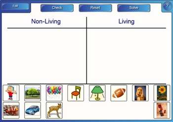 Non-Living and Living Sort Smart Notebook Activity