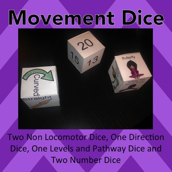 Movement Dice: Warm Up Dice: Exercise Game - Non-Locomotor Movement