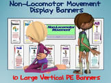 Non-Locomotor Movement Display Banners: 10 Large Vertical Banners