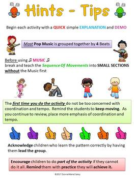 Non-Locomotor Movement / Exercise Cards and Lesson Plans