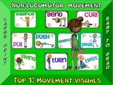 Non-Locomotor Movement- Top 10 Movement Visuals- Simple Large Print Design