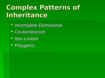 Non-Mendelian Inheritance Notes