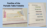 Families of the Periodic Table Foldable, Powerpoints and Teacher's Guide