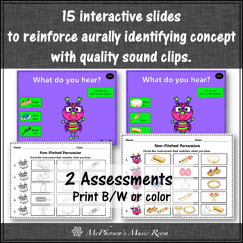 Non-Pitched Percussion Interactive Music Game & Assessment {Love Bug}