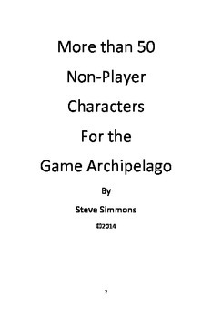 Non-Player Characters for Archipelago