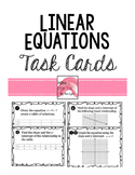 Non-Proportional, Linear Equations Task Cards Activity y=m