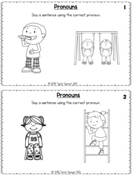 Non-Reader Language Notebook Pages for Speech Therapy