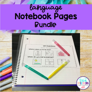 Non-Reader and Language Notebook Pages for Speech Therapy BUNDLE