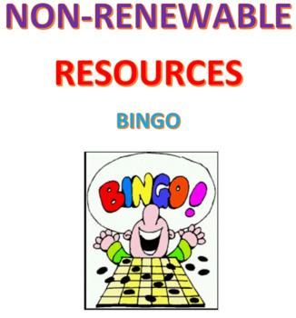 Non-Renewable Resources Bingo