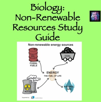 Non-Renewable Resources Study Guide