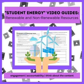 Non-Renewable vs Renewable Resources WAL (write-a-long)- NO key