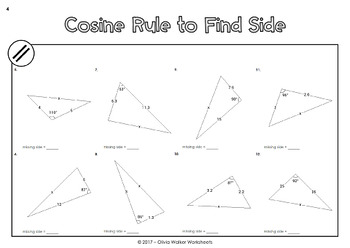 Sine Rule And Cosine Rule Worksheet: non right angle trigonometry area of triangle cosine rule and ,