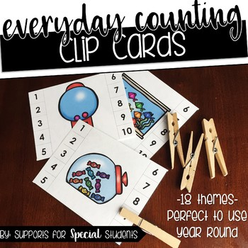 Everyday Counting - Clip Cards for Numbers 1-10